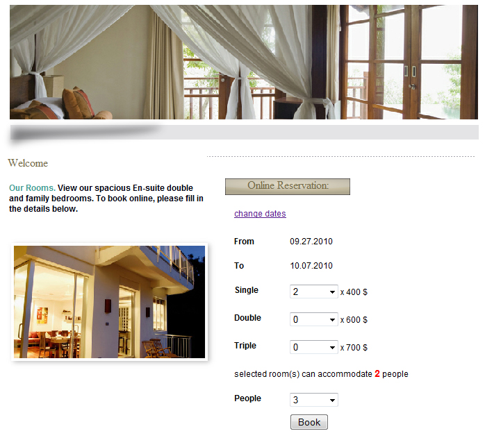 Web-Based Room Booking System Screenshot