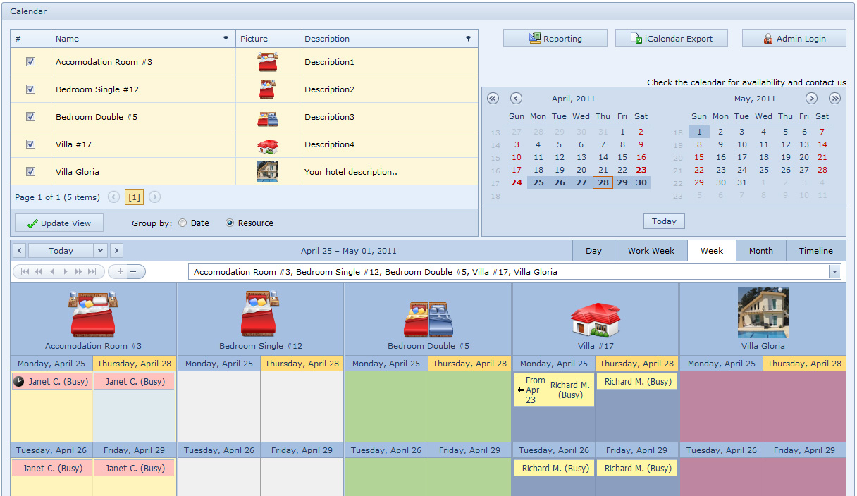 Online Hotel Booking System Screen shot