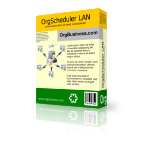 OrgScheduler LAN v.8.3
