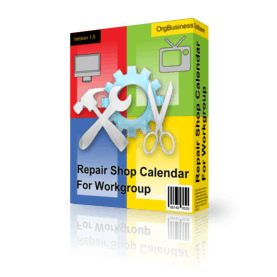 Repair Shop Calendar For Workgroup v.4.7
