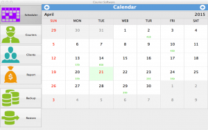Courier Software for Mac - calendar