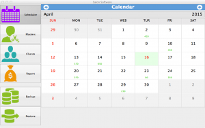 Salon Software for Mac - calendar