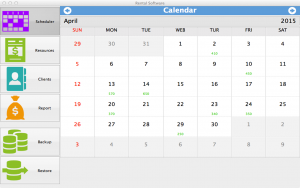 Rental Software for Mac - calendar