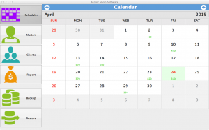 Repair Shop Software for Mac - calendar